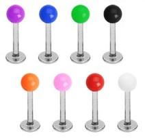 Piercing Labret Boules Acrylique UV Solide - Bijou Piercing Labret