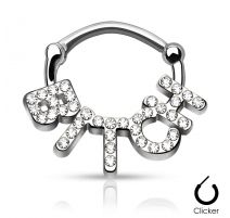 Piercing septum bitch pavé de strass