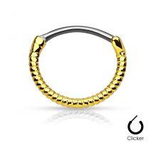 Piercing septum corde doré