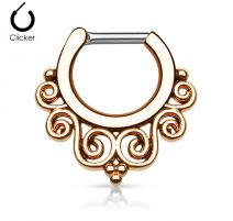 Piercing septum courbes 1,6 mm or rose