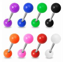 Lot de 8 piercing langue en acrylique