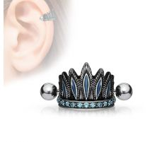 Piercing cartilage coiffure chef indien turquoise