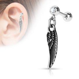 Piercing cartilage pendentif aile d'ange