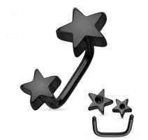 Piercing cartilage loop étoiles noir