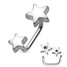 Piercing cartilage loop étoiles argenté