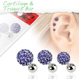 Lot de 3 piercing cartilage cristaux tanzanite