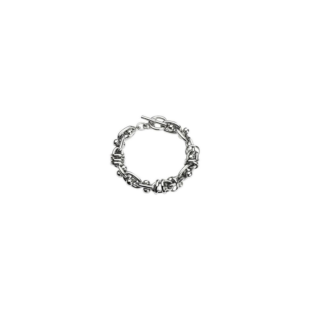 bracelet acier inoxydable multiples anneaux. Black Bedroom Furniture Sets. Home Design Ideas