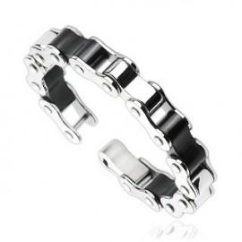 Bracelet acier inoxydable Duo Liens Cyclables