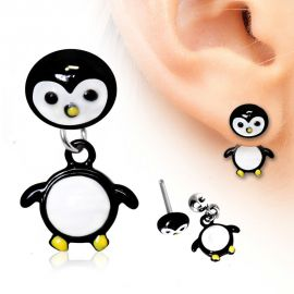 Piercing oreille pingouin