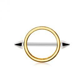 Piercing téton cercle plaqué or