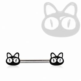 Piercing téton chats noirs