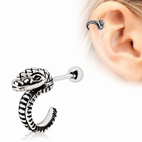 piercing cartilage h lix serpent. Black Bedroom Furniture Sets. Home Design Ideas