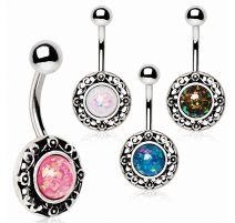 Piercing nombril style antique opale