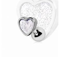 Piercing cartilage hélix coeur poudré