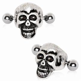Piercing cartilage hélix manchette skull