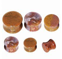 Piercing plug pierre naturelle jaspe océan
