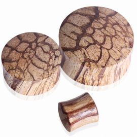 Piercing plug oreille en bois de racine