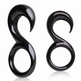 "Piercing écarteur oreille corne de buffle ""8"""