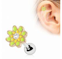 Piercing cartilage hélix fleur de printemps