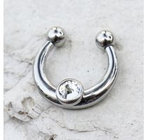 Faux piercing septum gemme