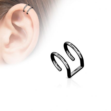 Faux Piercing Oreille Cartilage Plaqué Titane