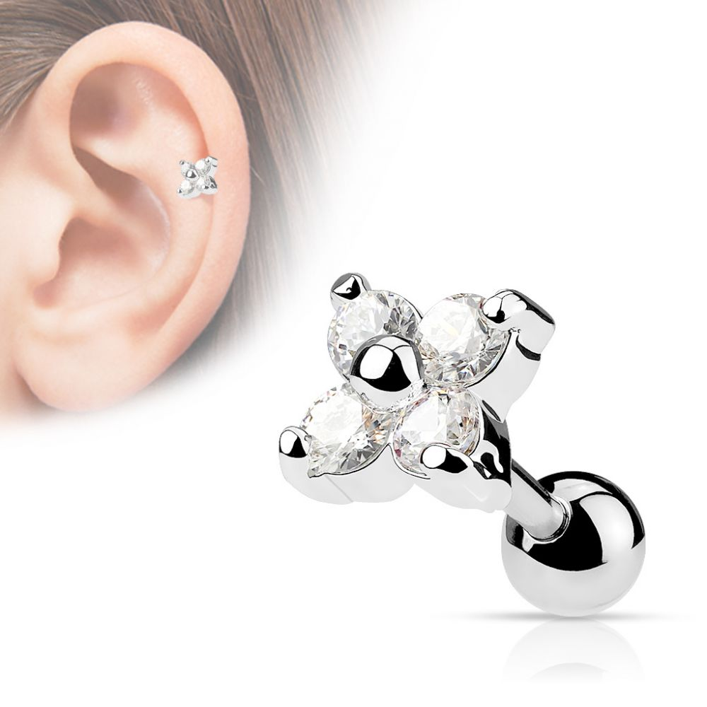 piercing oreille tragus cartilage fleur. Black Bedroom Furniture Sets. Home Design Ideas