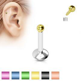 Piercing Labret Micro Bille Titanium