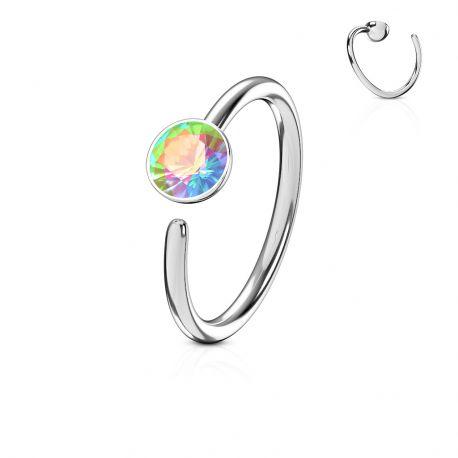 Piercing nez anneau pierre zircon