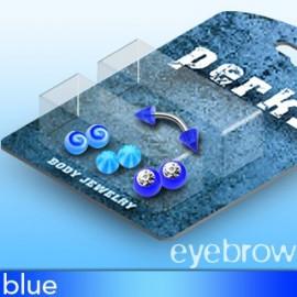 Pack Piercing Arcade Acier et Acrylique Bleu