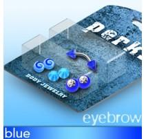 Pack Piercing Arcade Acier et Acrylique Bleu - Bijou Piercing pour Arcade