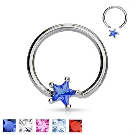 Piercing anneau Captif Etoile