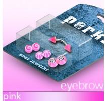 Pack Piercing Arcade Acier et Acrylique Rose - Bijou Piercing pour Arcade
