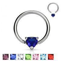 Piercing anneau Captif Coeur