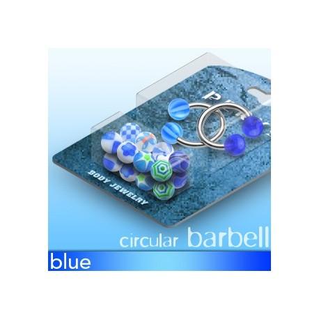 Pack 2 Piercing fer à cheval Boules Acrylique Bleu