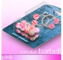 Pack 2 Piercing fer à cheval Boules Rose