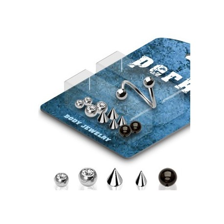 Pack Piercing Spirale Boules et Spikes