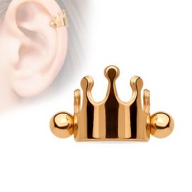 Piercing cartilage couronne or rose