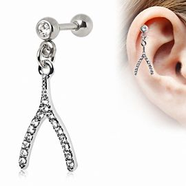 Piercing cartilage hélix wishbone