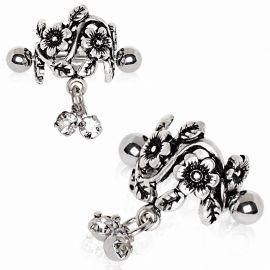 Piercing cartilage hélix manchette floral