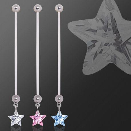 Piercing nombril de grossesse gemme étoile