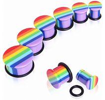 Piercing plug acrylique rainbow
