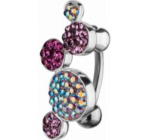 Piercing nombril Crystal Evolution Swarovski boules