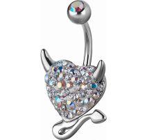 Piercing nombril Crystal Evolution Swarovski Coeur endiablé