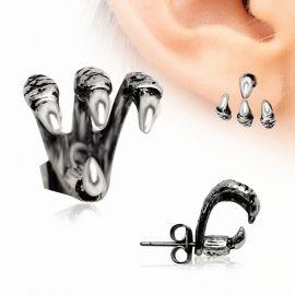 Piercing lobe d'oreille trident griffe