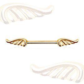 Piercing téton plaqué or ailes