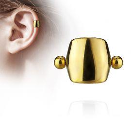 Piercing Oreille Helix Cartilage Barbell Bouclier Doré