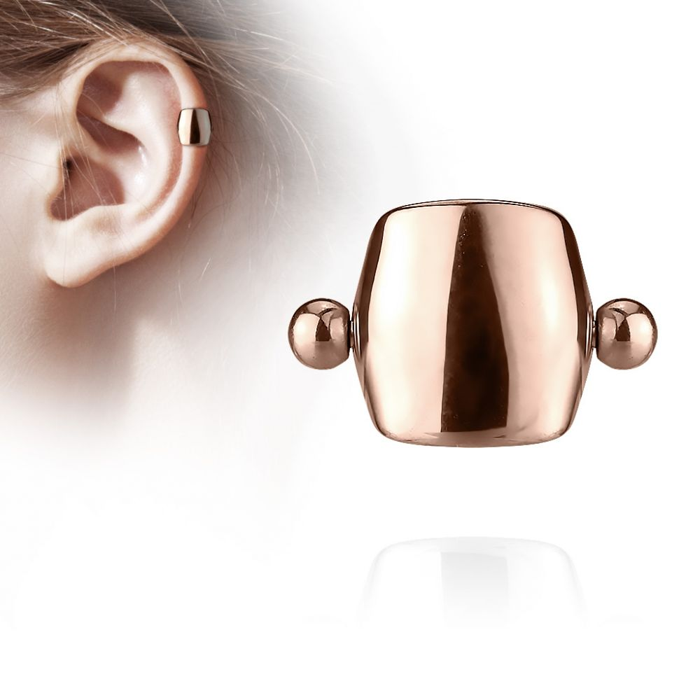 piercing oreille helix cartilage barbell bouclier or rose. Black Bedroom Furniture Sets. Home Design Ideas
