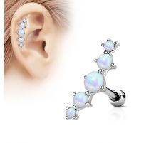 Piercing cartilage cinq opale