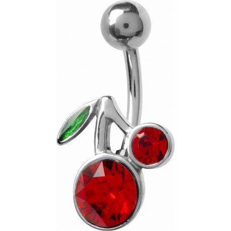 Piercing nombril crystal Swarovski Cerise