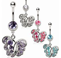 Piercing nombril papillon fantaisie